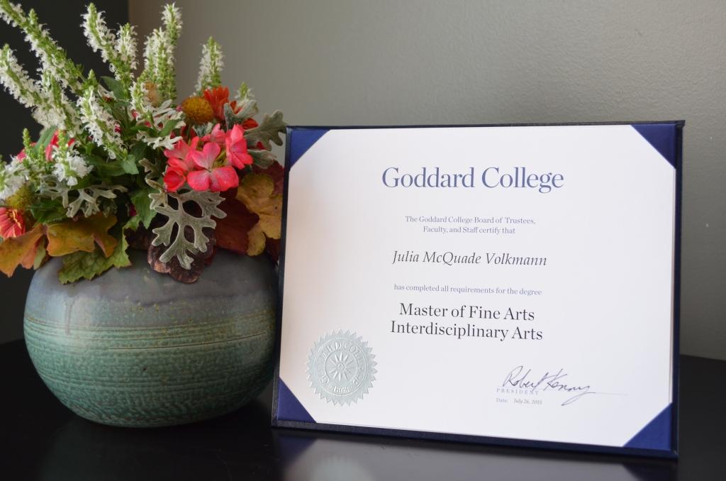 MFA in Interdisciplinary Arts Diploma Still Life 2
